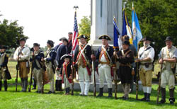Re-enactors serve as our Color Guard