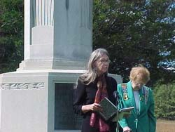 Chaplain Carol Strong and Regent Shirley Schadow Saratoga Chapter NSDAR