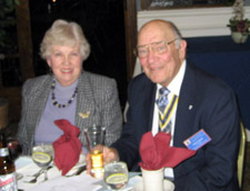 Lois and John Sheaff (John is President of the Walloomsac Battle Chapter - Photo by Duane Booth