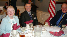 Nancy and 2nd Vice President George Ballard with Past President Bill Glidden - Photo by Joyce Armstrong