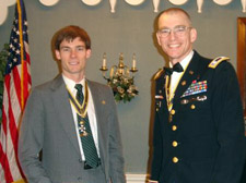 Jonathan and LTC Peter Goebel (Empire State Society President) - Photo by Joyce Armstrong