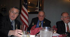 George, Bill and Jim Hays	(organizing the Valcour Battle Chapter) - Photo by Duane Booth