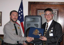 Ranger Bill Valosin received the Bronze Good Citizenship Award - Photo by Duane Booth