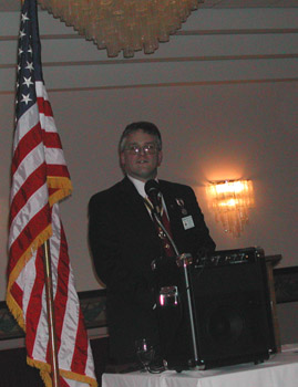 Chapter President Richard Hale Fullam presides over the meeting (photo courtesy of Dianne Fullam)