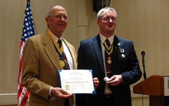 Past President Lew Slocum and President Rich Fullam - Photo: Rich Fullam