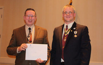 Karl L. Danneil and President Fullam - Photo: Rick Saunders