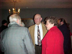Past presidents Carlton Covell and Lewis Slocum with Lew's wife Carol.