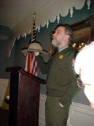 Guest Speaker Ranger Joe Craig of the Saratoga National Historical Park.