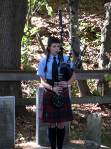 Bagpiper Allison Crowley-Duncan playing Amazing Grace
