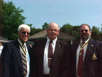 Chapter President Booth, New Member Ed Skellie and Past Chapter President Rick Saunders