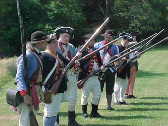 The Saratoga Battlefield Musket Team