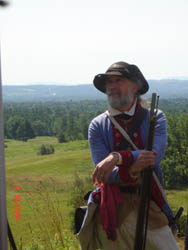 SNHP Ranger Joe Craig doubles as a member of the Musket Team and the Toastmaster