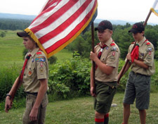 Our Color Guard - Thanks Boy Scout Troop 6, Glens Falls, NY - Photo by Duane Booth