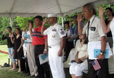 The Class of 2007 Candidates take the Oath of Allegiance - Photo by Duane Booth