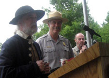 Park Ranger Joe Craig gives 13 toasts to America following our victory - Photo by Duane Booth