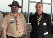 Rick Saunders and George Ballard; A hearty thanks to the leaders and boys from Troop 6 - Photo by Duane Booth