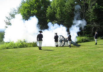 SNHP Park staff and volunteers fire the cannon for us. Thank for coming to work on America's birthday!