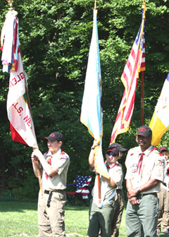 Boy Scouts Present Colors - Photo courtesy of Rick Saunders, Jr.