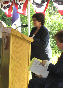 Kathy Marchione, NYS Senator 43rd district, addresses new citizens