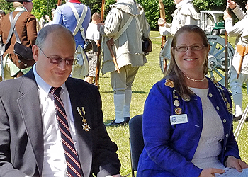 SBC SAR President Douglas Gallant and Saratoga Chapter DAR Regent Heather Mabee