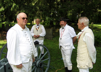 Pictured (l-r) are Brad Allen, Alfred Bartlett, Pete Hormel, and Jim Hilton.  These men are re re-enactors from the 2nd NY Continental Artillery who come to many of our events bringing a cannon and muskets to fire and that add much to our services.  We appreciate you guys a lot!  Thanks for all that you do for us.