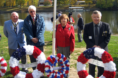 After The Wreath Laying (L-r) Joseph, Duane, Corinne Scirocco, Regent Saratoga Chapter, NSDAR and Thomas - Photo: Duane Booth