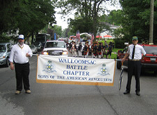 Walloomsac Battle Chapter Members Rick Saunders (l) who belongs to both Chapters and Paul Virtue of Walloomsac Battle Chapter