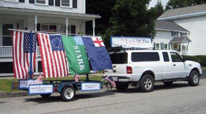 SAR float ready to go - Truck and trailer provided by John Sheaff - Photo by Duane Booth