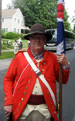 Pre-parade photo - Paul Loding (Walloomsac Battle) - Photo courtesy of Duane Booth