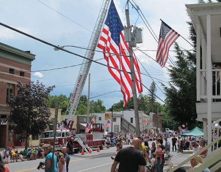 The Village of Schuylerville turns out for the Turning Point Parade
