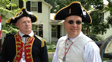 2nd Continental Artillery Re-enactors Mike Companion and Bret Trufant