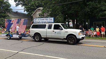 SAR float driven by Walloomsac Battle Chapter President John Sheaff