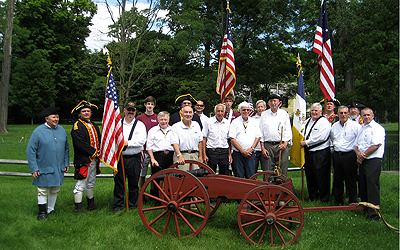 All of the SAR participants in front of the Schuyler House after the parade.