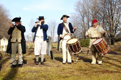 Musicians from 13th Albany County Militia great us with period music - Photo by Duane Booth